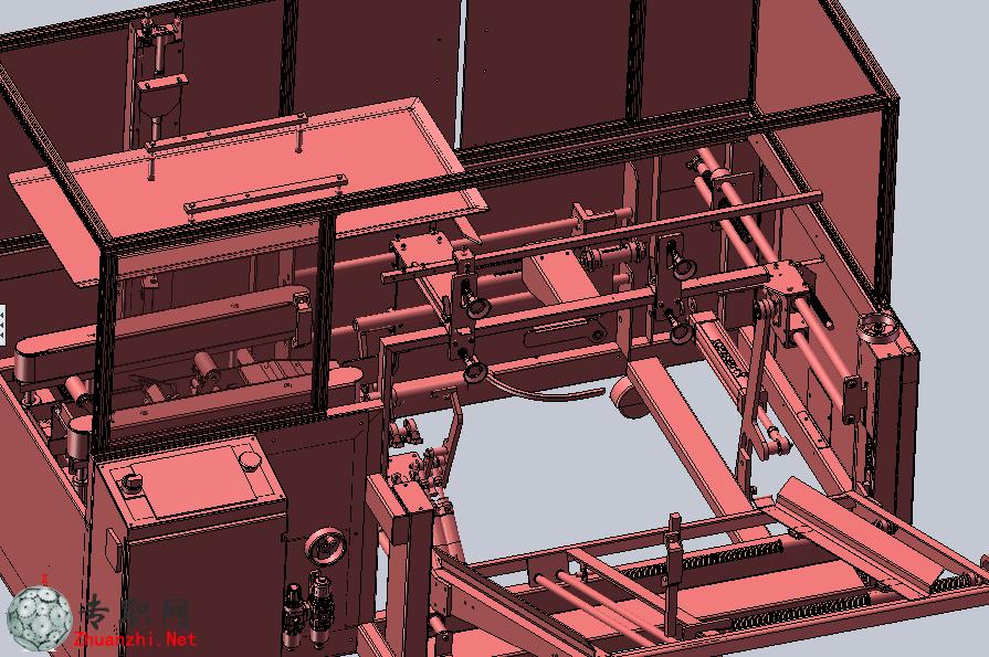 纸箱折叠包装机3d模型