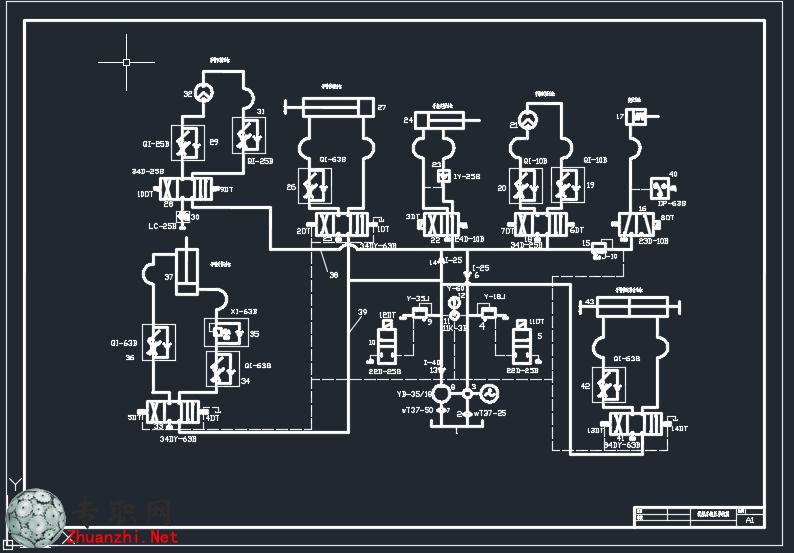 --> 液压传动机械手的设计一套,内容齐全(毕业设计书+CAD图纸全套)。 内容包含:液压传动机械手的设计说明书、毕业设计论文、设计任务书.doc、目录.doc、任务书.doc、装配图-A0.dwg、手部结构图-A1.dwg、液压回路图-A1.dwg、手臂升降机构图-A1.dwg、传动系统图-A2.dwg、PLC程序图.
