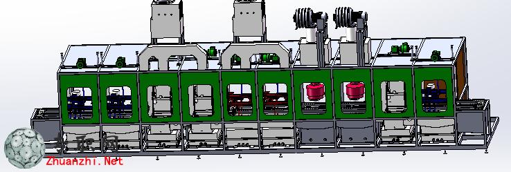 步进式清洗机3d模型_solidworks设计_step文件下载