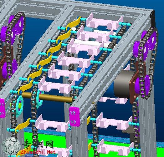 物料分拣机送料机3d模型,材料分拣采用可编程控制器plc 进行控制