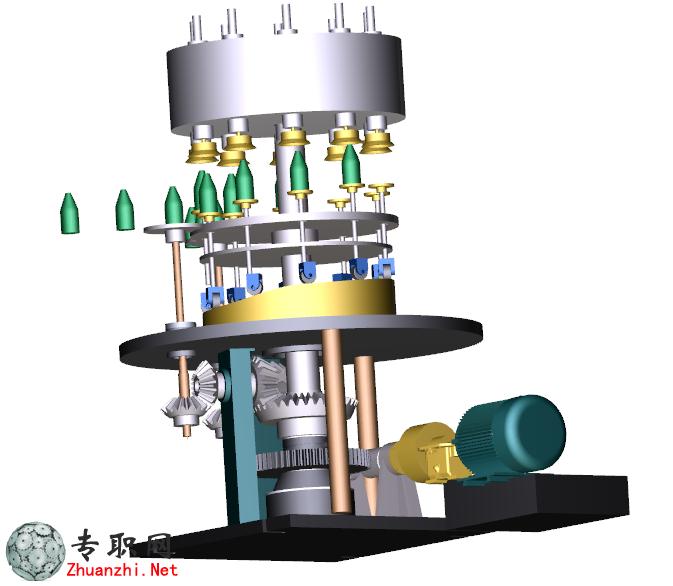 啤酒灌装机设计方案3d模型