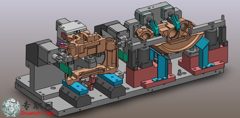 非标钳体液压夹具3d模型_solidworks设计_sldprt/sldasm/step下载